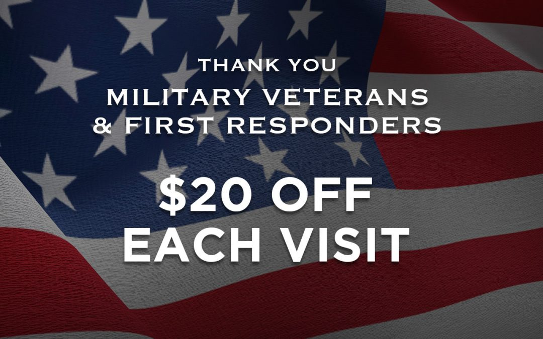 We Salute Military Vets and First Responders